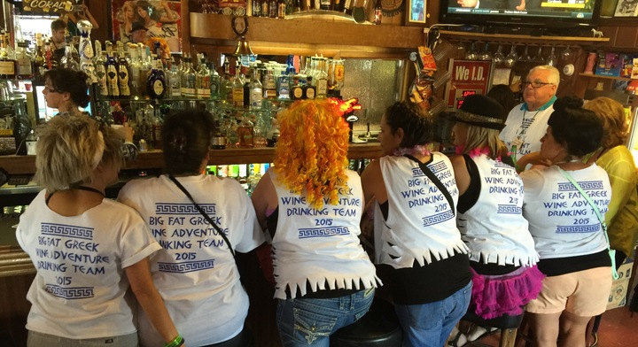 Opa! Big Fat Greek Wine Adventure 2015 T-Shirt Photo