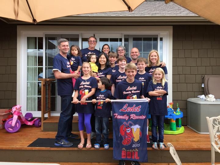 Ledet Family Reunion 2015 Crawfish Boil T-Shirt Photo