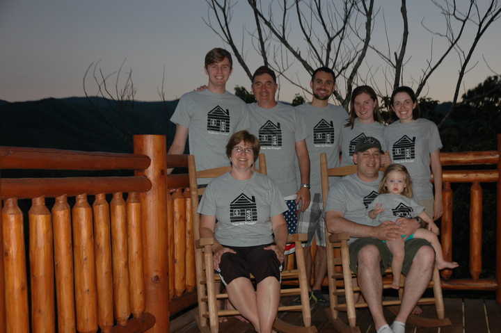 Our Family At Highland Plunge Cabin T-Shirt Photo