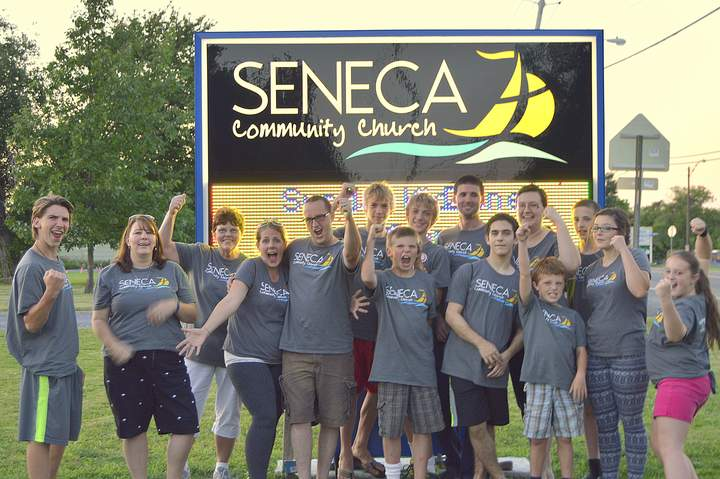 Seneca Community Church Volunteers Rocking Their T Shirts After The Kid Zone Summer Program T-Shirt Photo
