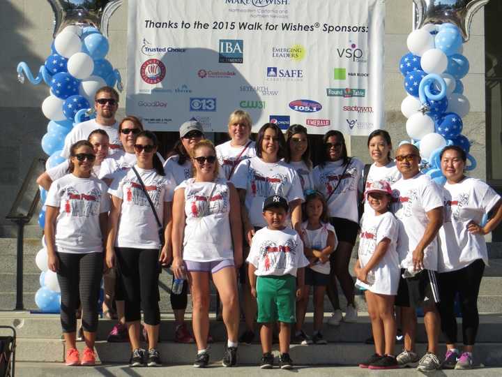 Team Weideman Walking For Wishes T-Shirt Photo