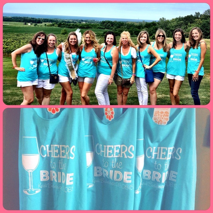 Cheers To The Bride!  T-Shirt Photo