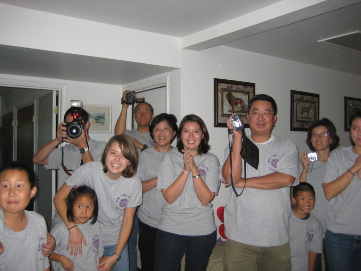 Surprise! The Big Reveal At Grandma's 80th Birthday Party! T-Shirt Photo