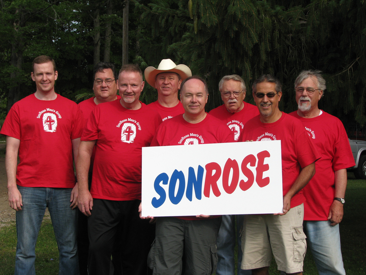 The Son Rose Men's Bible Study Group T-Shirt Photo