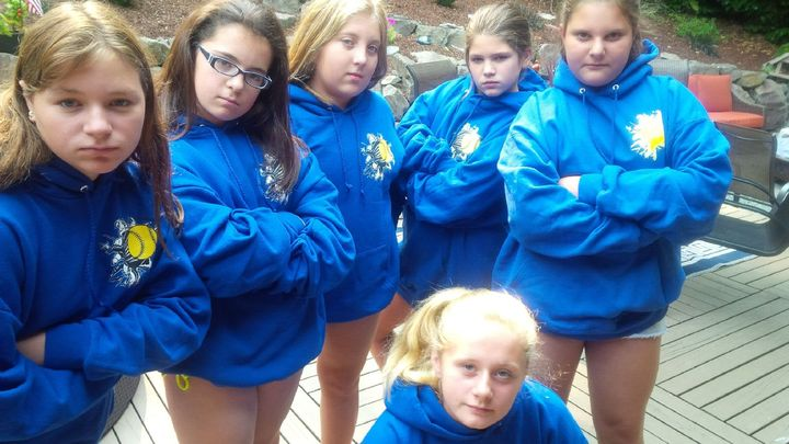 Amber's 11th Bday, Hoodies Vs Goody Bags. Hoodies Clearly Win!  T-Shirt Photo