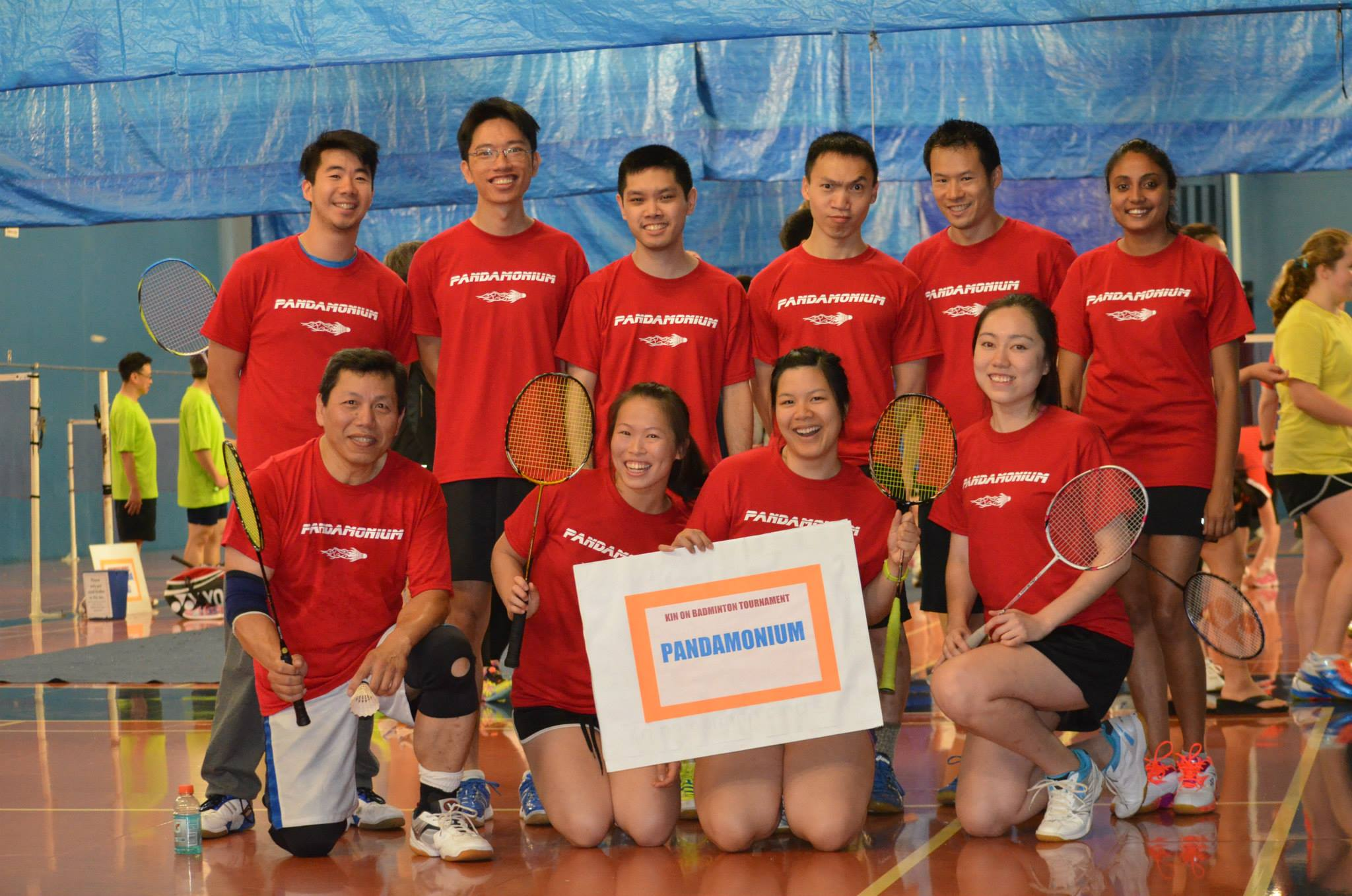 2a563481 Pandamonium Won 2nd Place In A Local Fundraiser Badminton Tournament! T- Shirt Photo