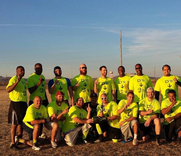 D's Nutz Flag Football Team T-Shirt Photo
