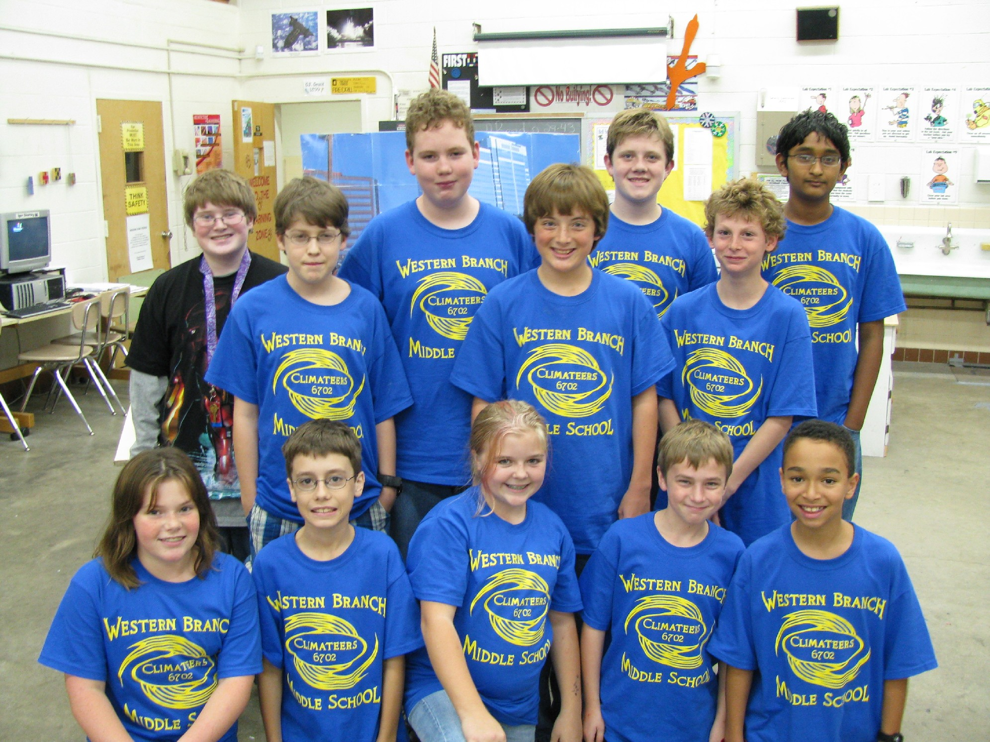 Custom T-Shirts for Team Climateers First Lego League ...