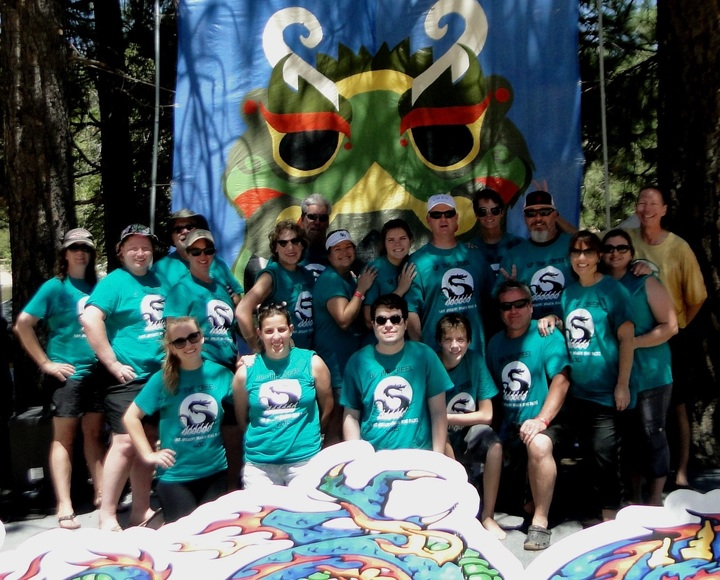 Team Up The Creek   Lake Gregory Dragon Boat Races T-Shirt Photo