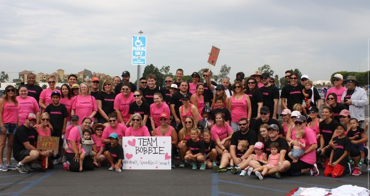 Team Bobbie Walking At Oc Brain Tumor 5k T-Shirt Photo