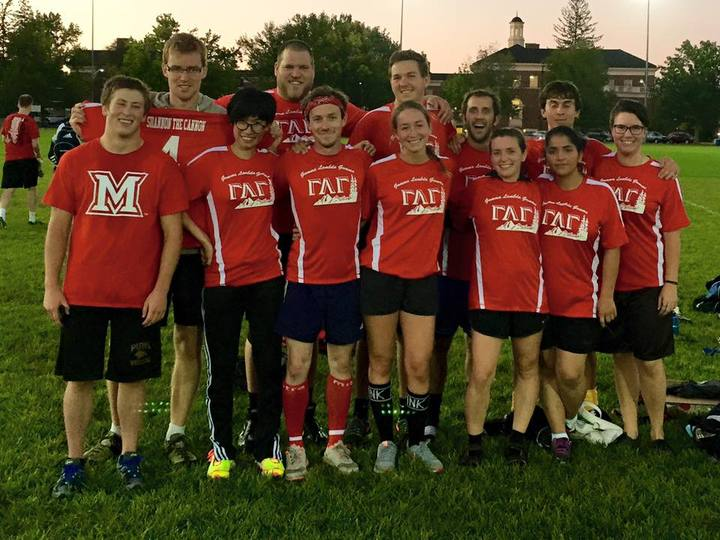 Gamma Lambda Gamma Geology Intramural Soccer Team T-Shirt Photo