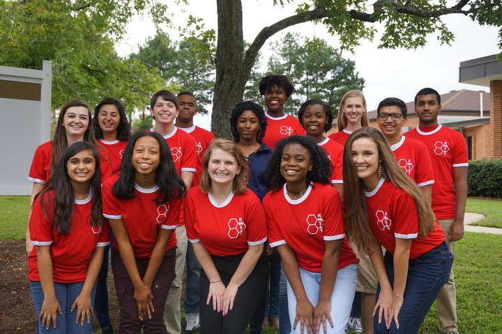 Student Ambassadors Represent In Red T-Shirt Photo