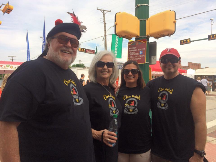 Clan Baird At The Grapevine Wine Festival T-Shirt Photo