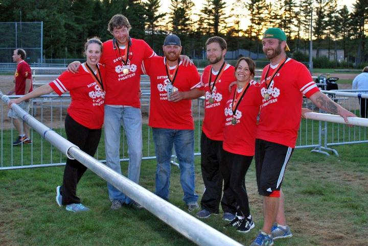 Human Foosball Champions! T-Shirt Photo