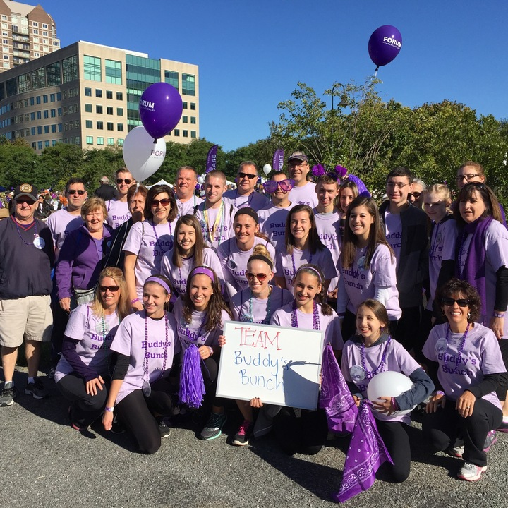 Buddy's Bunch Walks To End Alzheimer's  T-Shirt Photo