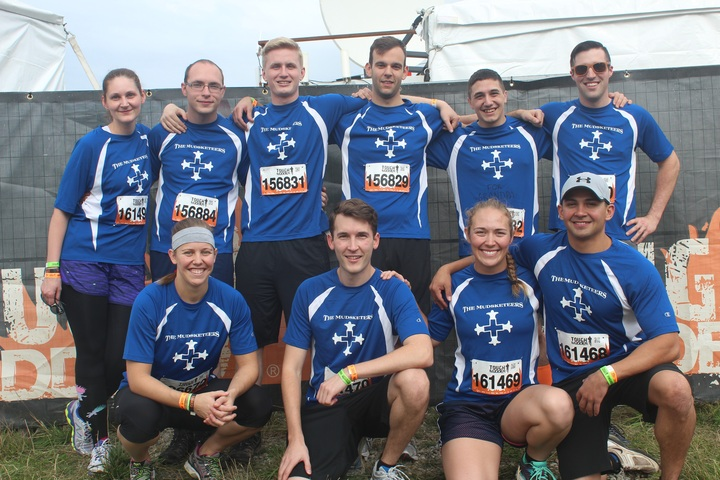 The Mudsketeers At The Seattle Tough Mudder T-Shirt Photo