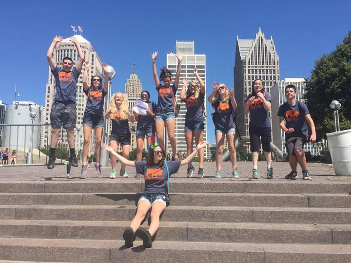 Hope's Youth Show Their Buffa Lutheran Pride In Detroit! T-Shirt Photo