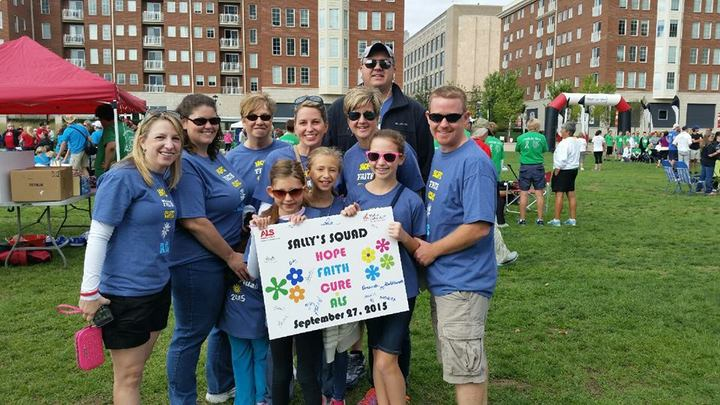 Sally's Squad Walks To Defeat Als T-Shirt Photo