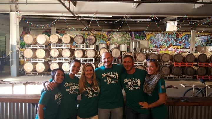 Cheers & Beers To 32 Years! T-Shirt Photo