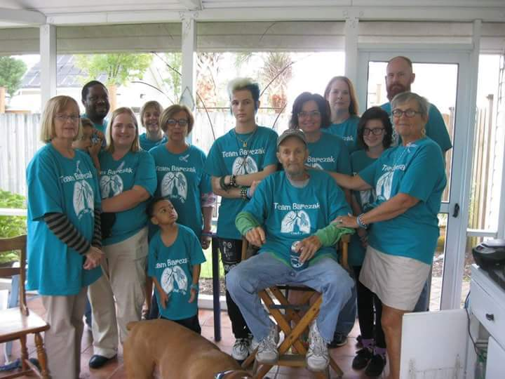 Team Barczak Fights Lung Cancer T-Shirt Photo
