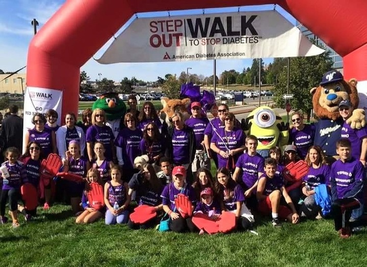 Team Hayward American Diabetes Step Out Walk  T-Shirt Photo