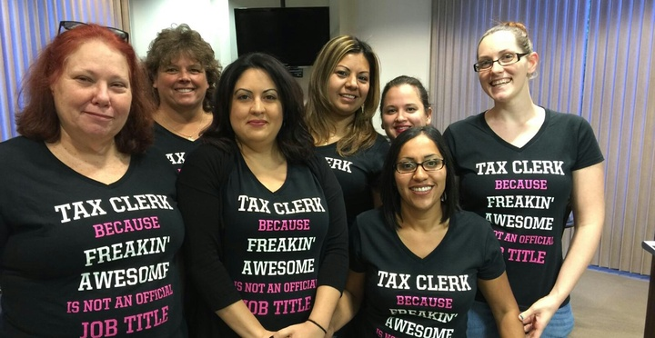Best Tax Clerks Ever T-Shirt Photo