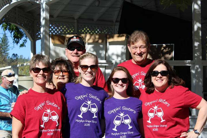 Grape Stomp 2015 With Sippin' Sisters  T-Shirt Photo