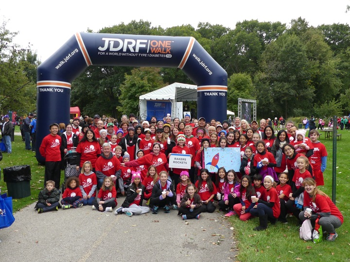 Jdrf 2015 Walk   Go Rakers Rockets T-Shirt Photo