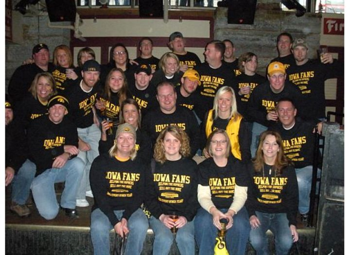 Iowa Minn Game At The Metrodome T-Shirt Photo
