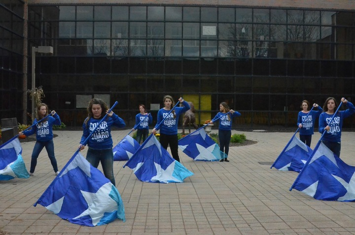 Hilliard Davidson Color Guard In Action! T-Shirt Photo