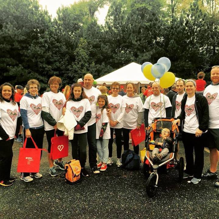 Team Lersch At Richmond Heart Walk T-Shirt Photo