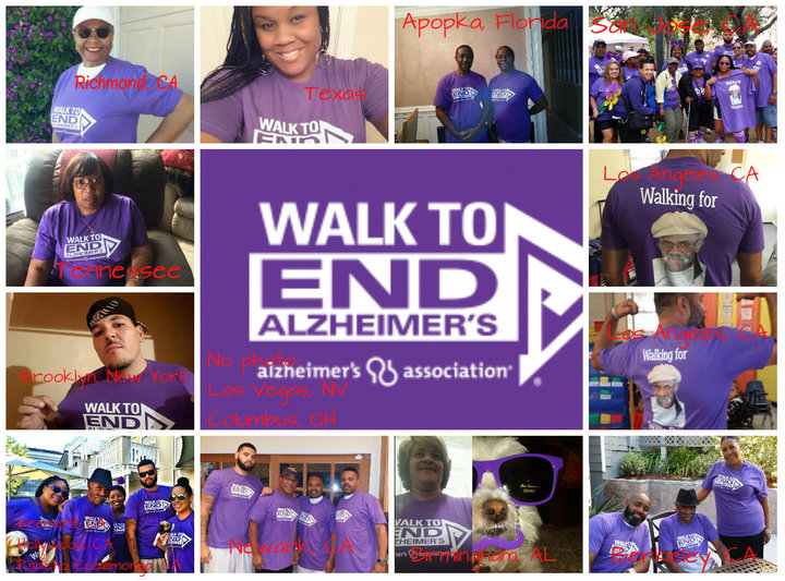 Walk To End Alzheimer's Team Willie Davis T-Shirt Photo
