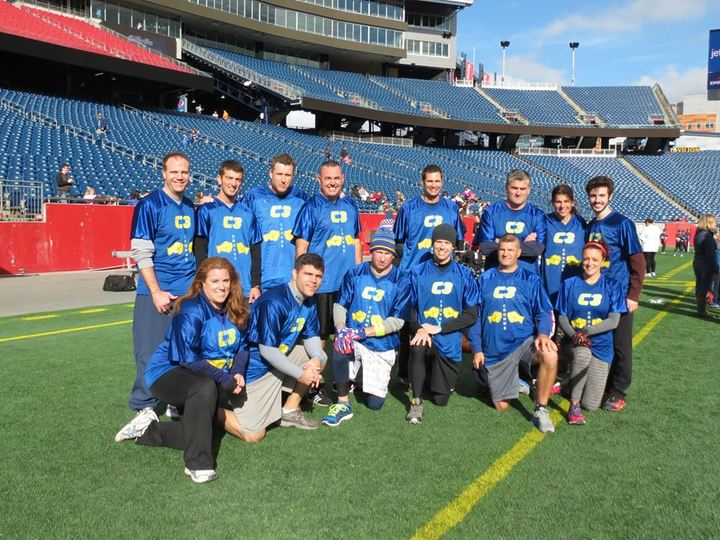 Team C3 On The Field At Gillette Stadium In New England T-Shirt Photo