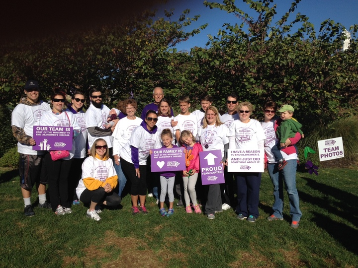 Forget Me Not Walk For Alz T-Shirt Photo