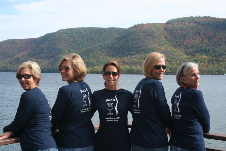 Sue's 50th Fall Weekend In Lake George T-Shirt Photo