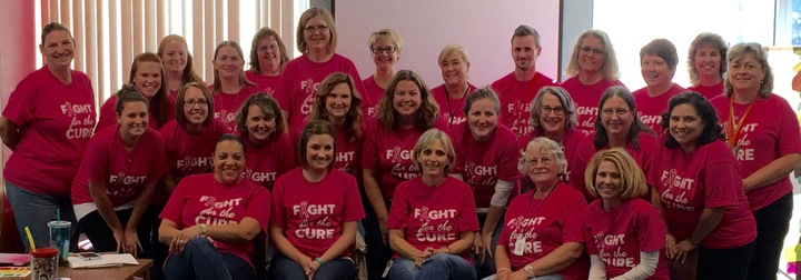 Chouteau Elementary Fight For The Cure T-Shirt Photo