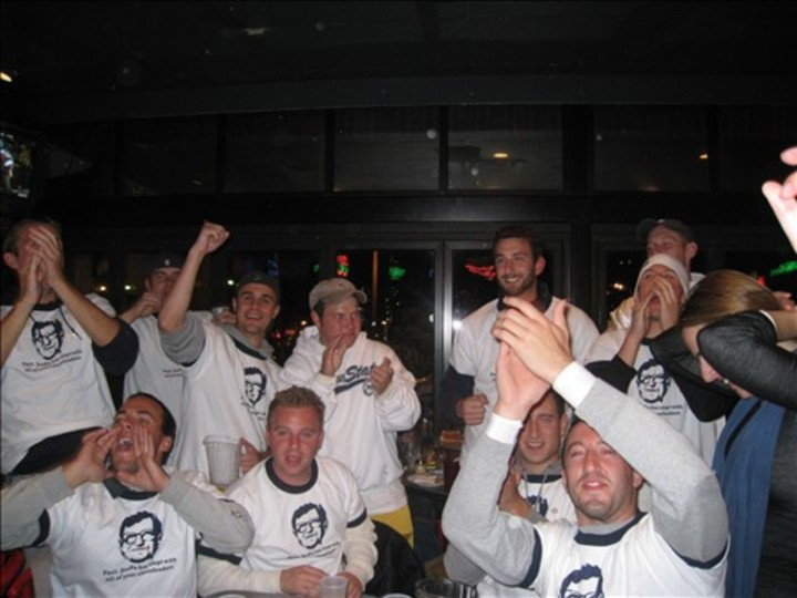 Psu Rv Weekend 08... Celebrating A Win In Our Joe Pa Shirts T-Shirt Photo