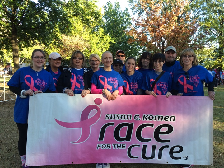 Becca's Breast Buddies Race For The Cure T-Shirt Photo
