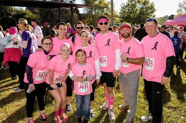 Team Picture Liz Hurley Ribbon Run 2015 T-Shirt Photo