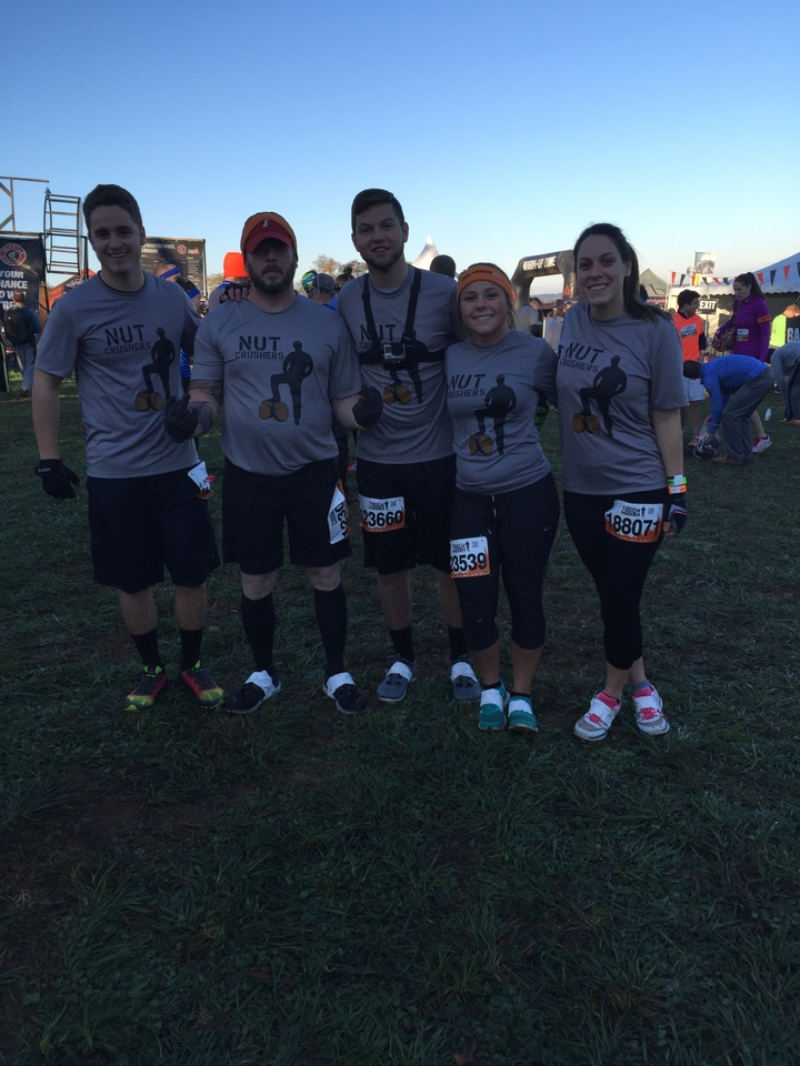 The Nut Crushers At The Tough Mudder T-Shirt Photo
