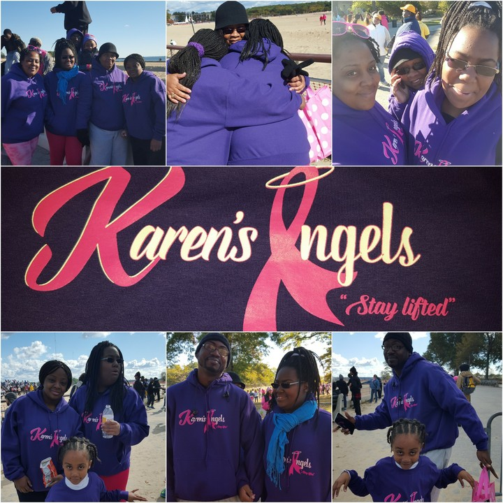 Karen's Angels Are Making Strides For Breast Cancer  T-Shirt Photo