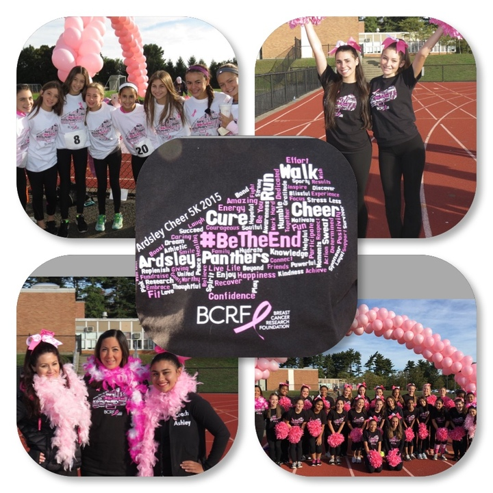 Ardsley Cheerleaders & Breast Cancer Research Foundation 5 K Fundraiser T-Shirt Photo