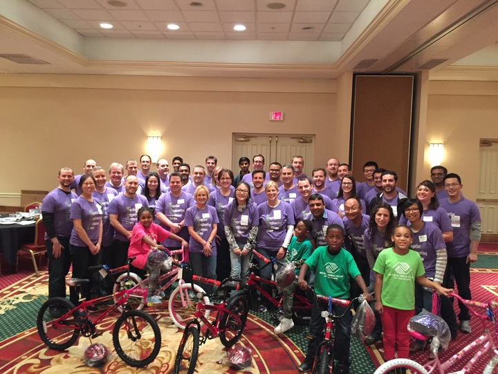 Building Bikes For Boys & Girls Club T-Shirt Photo