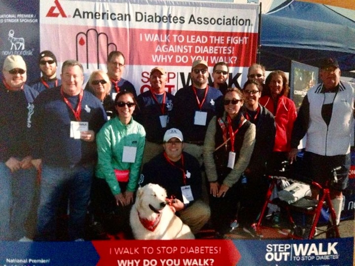 Cognitio Team Supporting Step Out: Walk To End Diabetes T-Shirt Photo