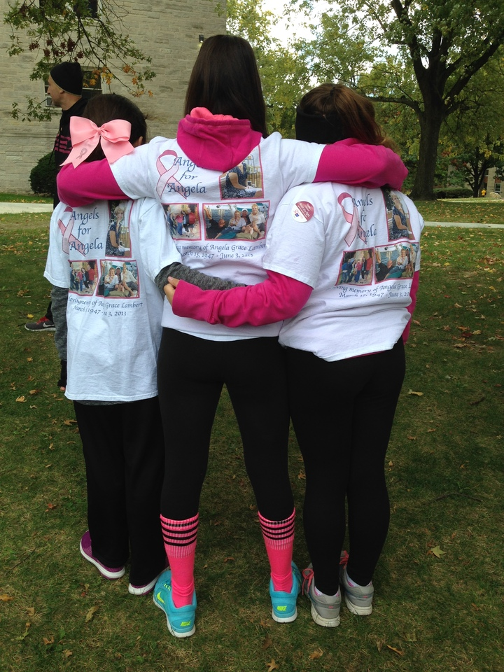Family Angels Walking In Memory Of Angela T-Shirt Photo