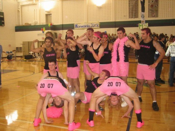 Senior Powderpuff Cheerleaders Class Of 2007 T-Shirt Photo
