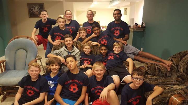 West Chester Elite Soccer Team T-Shirt Photo