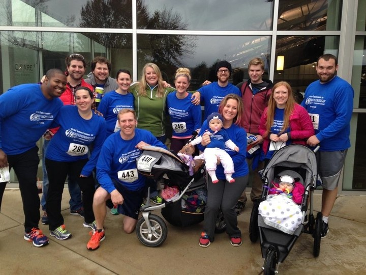 5 K Team = 13 Adults And 2 Babies! T-Shirt Photo