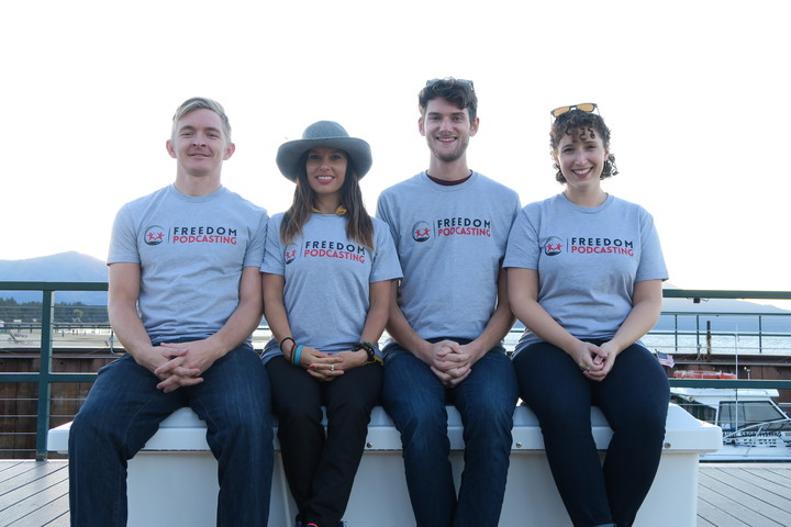 Freedom Podcasting Team Retreat South Lake Tahoe T-Shirt Photo