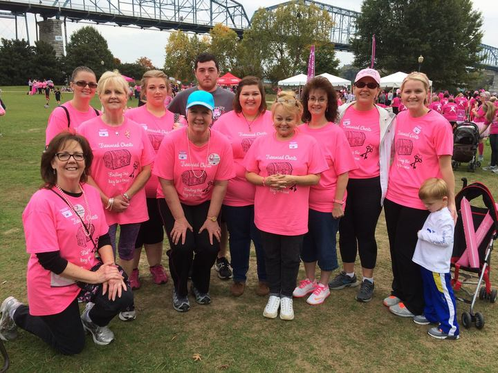 Team Treasured Chests Crushing Breast Cancer! T-Shirt Photo